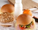 Lunchpakket ham-kaas, broodje gezond