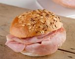 Ham, bruin broodje